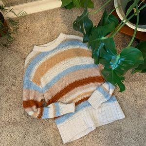 American Eagle Pullover Striped Sweater